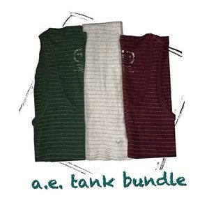 AEO ribbed tank bundle